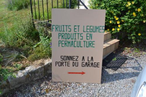 Panneau d'affichage du Potager du Gailleroux